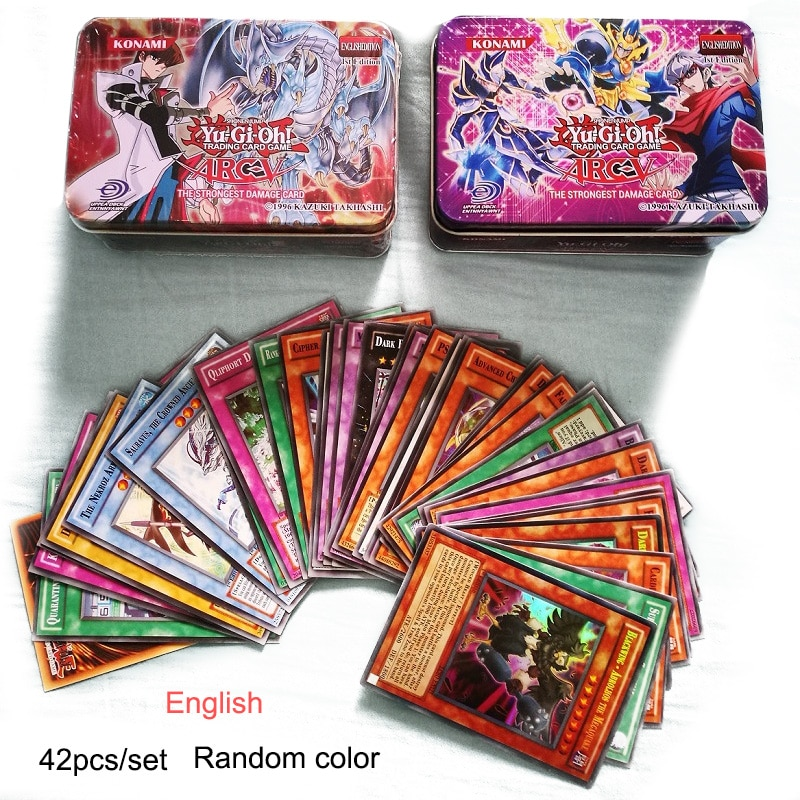 Yu Gi Oh English Game Cards Kids Play Carton Japan Yugioh For Collection 42pcs