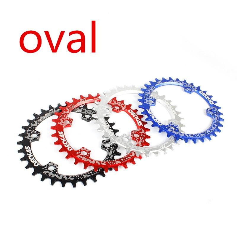 DECKAS-Cadena de bicicleta de montaña oval, rueda de cadena con cadena, 32T-38, para bielas de bicicleta de montaña, Círculo de placa única para manivela de 11 velocidades M7000 M8000 M9000