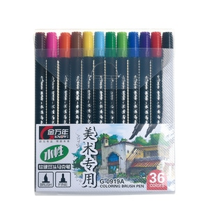 KNOW 12/24/36 Colors Double-Headed Sketching Art Markers Sketching Manga Markers Design Brush Pen For Stationery School Supplies