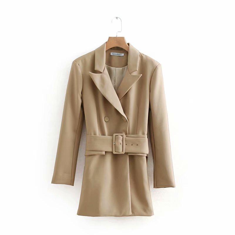 Womens Jacket Spring New Fashion Long Sleeve OL Temperament Belt Joker