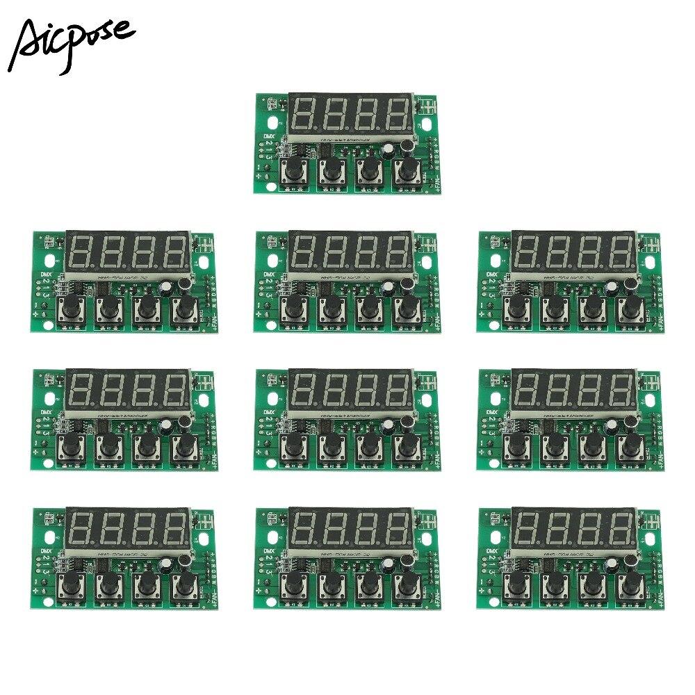 10 قطعة/السلع RGBW DC 12-36 V الضغط المستمر اللوحة 54X3 W/36x3 w LED الاسمية اللوحة 4/8CH إضاءة مسرح احترافية استرجاع