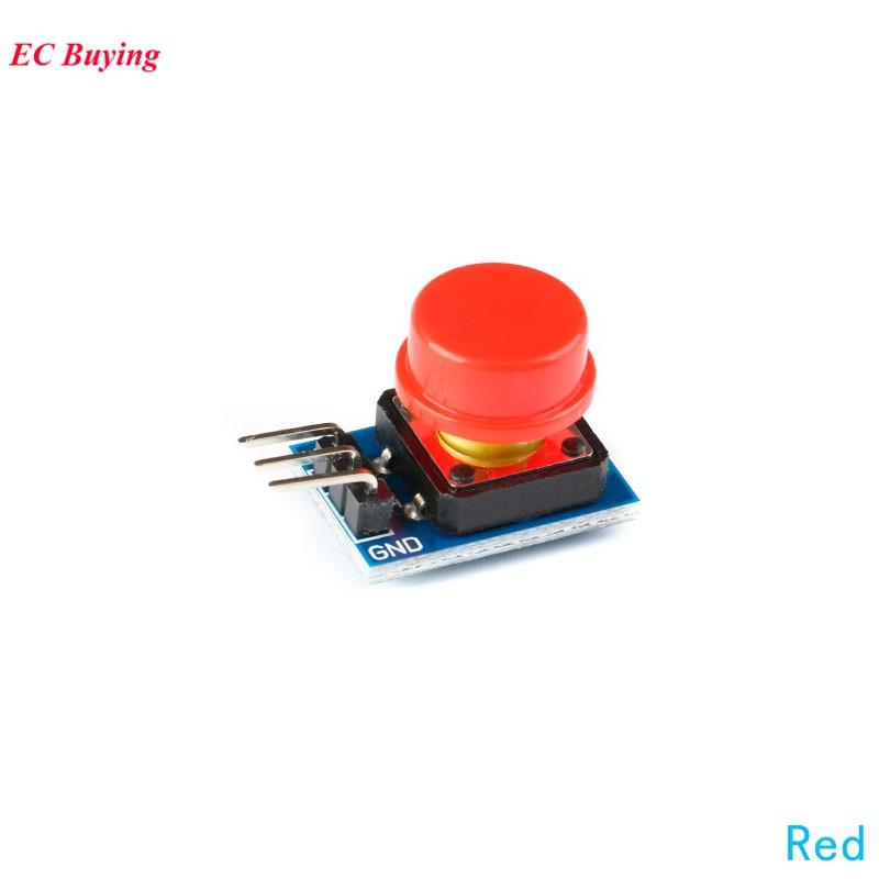 Módulo 5 uds llave grande módulo Interruptor táctil para luz Módulo de botón grande con sombrero rojo para Arduino tablero electrónico Diy PCB