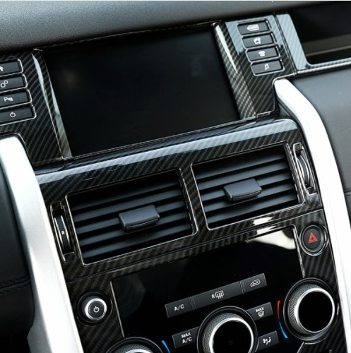 Carbon Fiber Surface For Land Rover Discovery Sport 2015 2016 2017 ABS Center Console AC Vent Outlet Trim Car Accessories 1PC