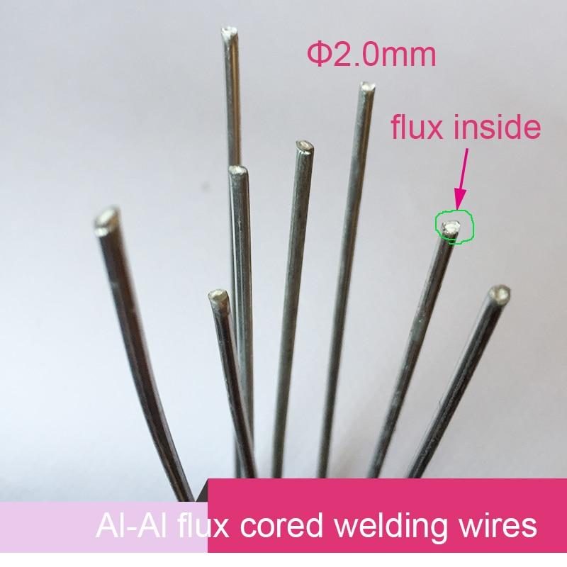20pcs 2mm*50cm aluminum flux cored gas welding wire No need aluminum powder Instead of WE53 copper and aluminum rod