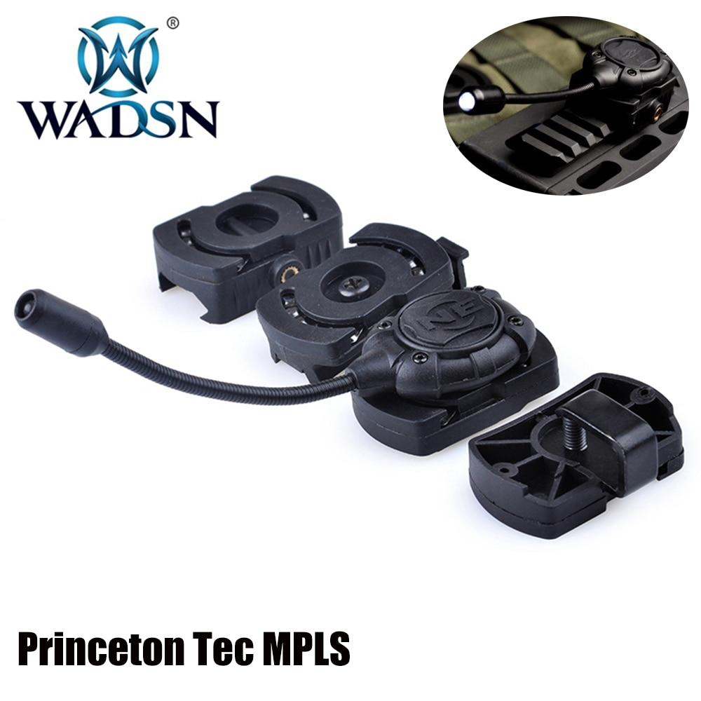 WADSN Airsoft Princeton Tec MPLS Tactical Helmet Light Modular Molle Mount Military Combat Softair W