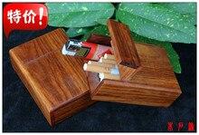 Étui à cigarettes en bois massif   Boîte à cartes en bois de rose en acajou, padauk pièces de jeu, carte de visite, boîte à bijoux en bois massif