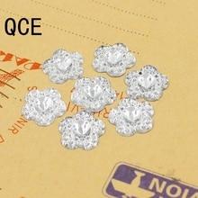 Livraison gratuite 144 pcs/Lot 10mm cristal/clair fleur Design acrylique strass, cristal Cabochons, bijoux accessoires pour bricolage