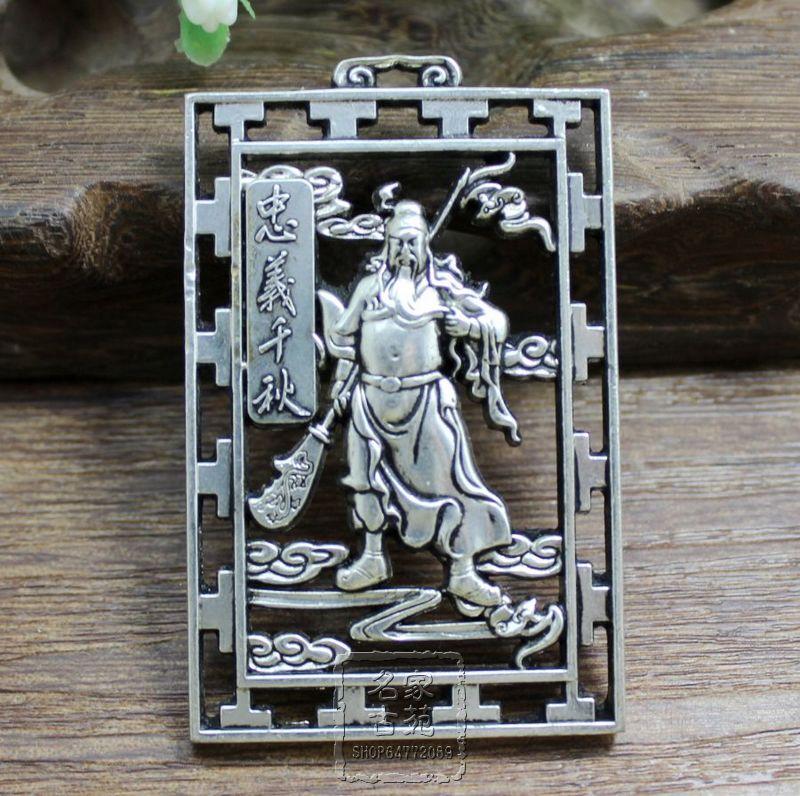 Exquisita joyería tallada en colgante marca Fidelity Qiangiu cobre hueco Gong