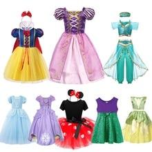 MUABABY-robe fantaisie princesse pour petites filles   Costume Elsa, Anna, Moana, raiponce, Sofia, cendrillon, Tiana, Mickey, robe pour la fête de Halloween