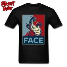 Twarz smoka koszulka męska nadzieja T koszula gra o tron Tshirt bawełna czarna czerwona koszulka 3XL Hip Hop odzież uliczna nadprzyrodzone