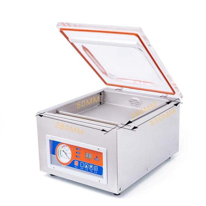Máquina de vacío de escritorio Jamielin agrandada, pequeña máquina de sellado doméstico, máquina de sellado de plástico, máquina de vacío de una sola cámara