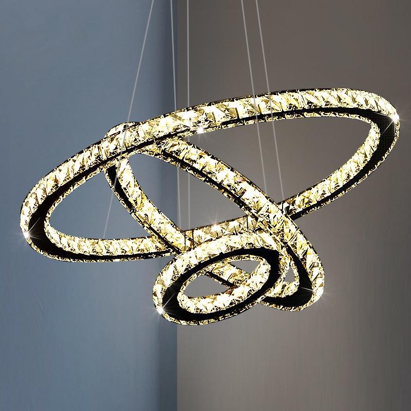 Techo-مصباح معلق LED على شكل حلقة ، تصميم حديث ، إضاءة داخلية ، إضاءة سقف زخرفية ، مثالية لغرفة المعيشة أو غرفة الطعام.