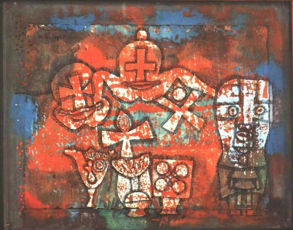 Lienzo de pintura al óleo de alta calidad, reproducciones de porcelana china (1940) de Paul Klee, pintura pintada a mano