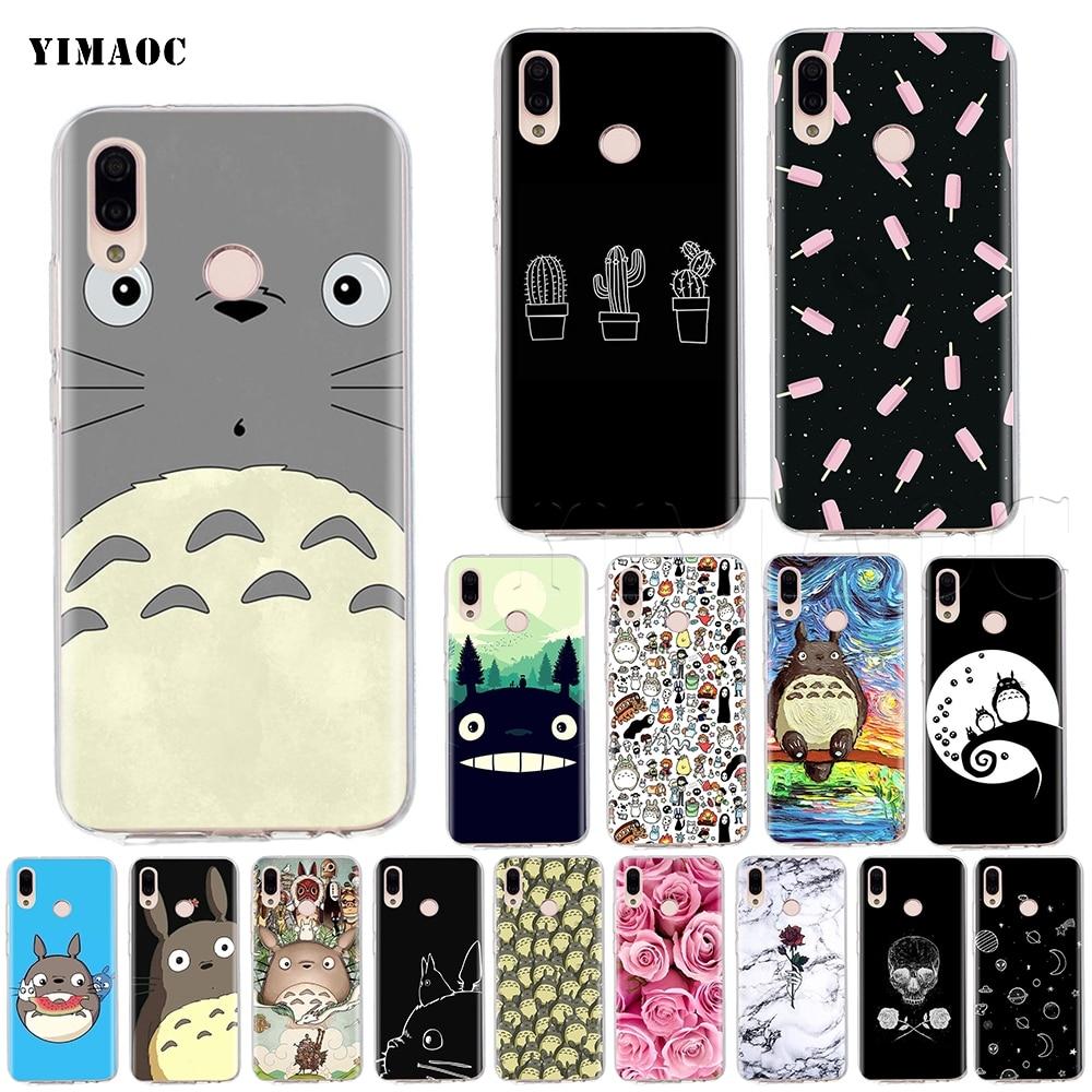 YIMAOC My Neighbor Totoro Case for Huawei P8 P9 P10 P20 P30 P Smart Lite Pro Mate 10 Y6 Prime 2018