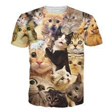 2019 NEW Kitten Laser Cats 3D Print Shirts Surprised T-shirt Fluffy Cuddly Terrified Cat Faces Awesome Women Men Summer t shirt