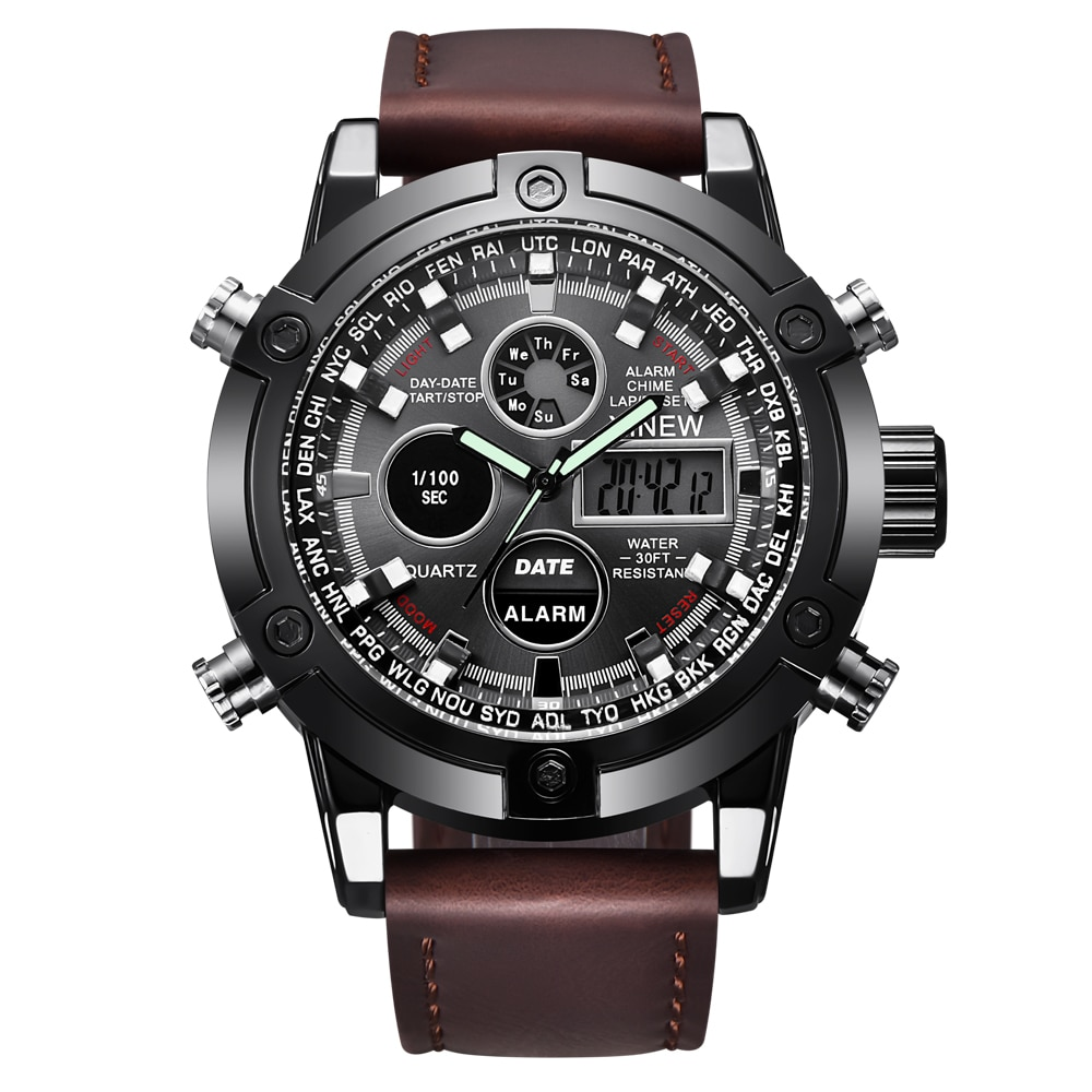 Caliente de la marca de Lujo de XINEW reloj cronógrafo Digital Relojes...