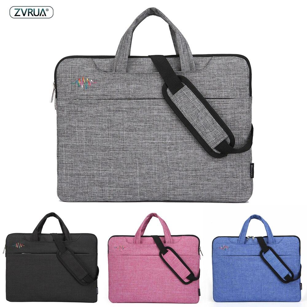 Bolso para portátil 13 14 15 pulgadas, bolsas impermeables para portátil Macbook Air Pro 13,3 15,4 15,6, bolso de hombro para ordenador, maletín, manga