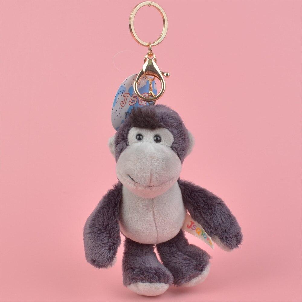 1 Uds. Mochila con orangutanes de alta calidad, juguete de peluche decorativo, llavero con colgante de felpa de 10cm/llavero de regalo, envío gratis