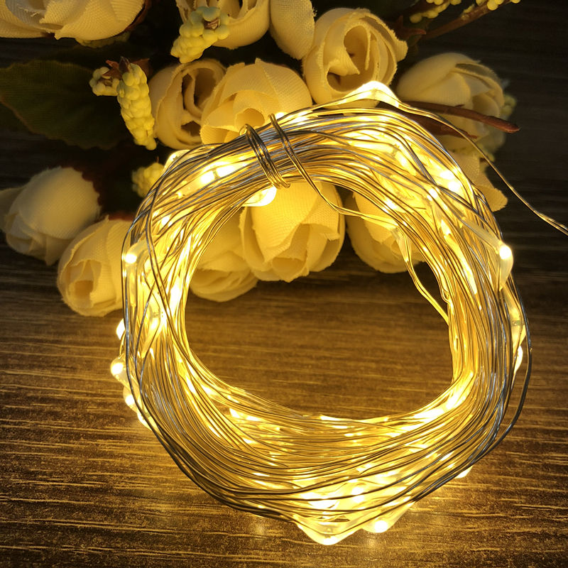waterproof copper wire fairy garland home christmas wedding party decoration led string light 10m 5m 3m 2m powered by battery 2M 3M Copper wire Waterproof LED string light Battery powered Fairy string Light for Party Wedding Christmas decoration light