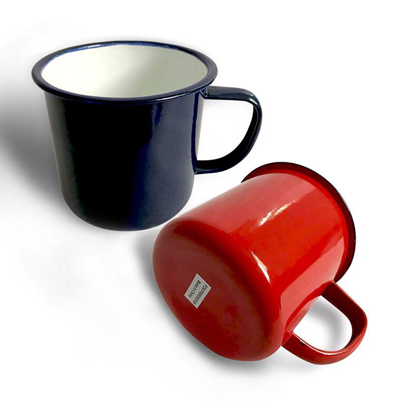 Taza de café Retro de 500ML, tazas de té personalizadas, portátil, esmaltada, para oficina, con revestimiento impreso, adecuado para la familia