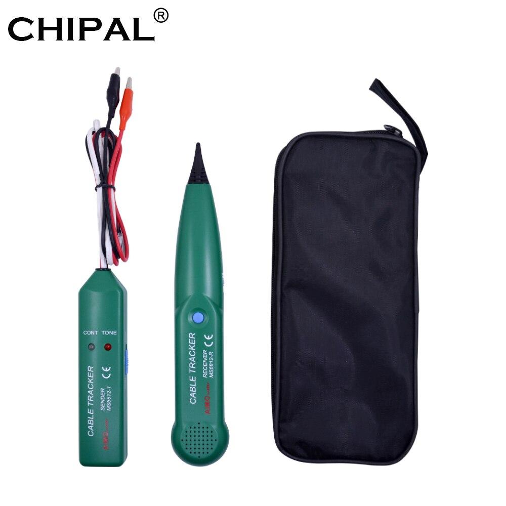 CHIPAL מקצועי AIMO MS6812 LAN כבל רשת בודק לutp STP Cat5 Cat6 טלפון טלפון חוט Tracker Tracer קו Finder