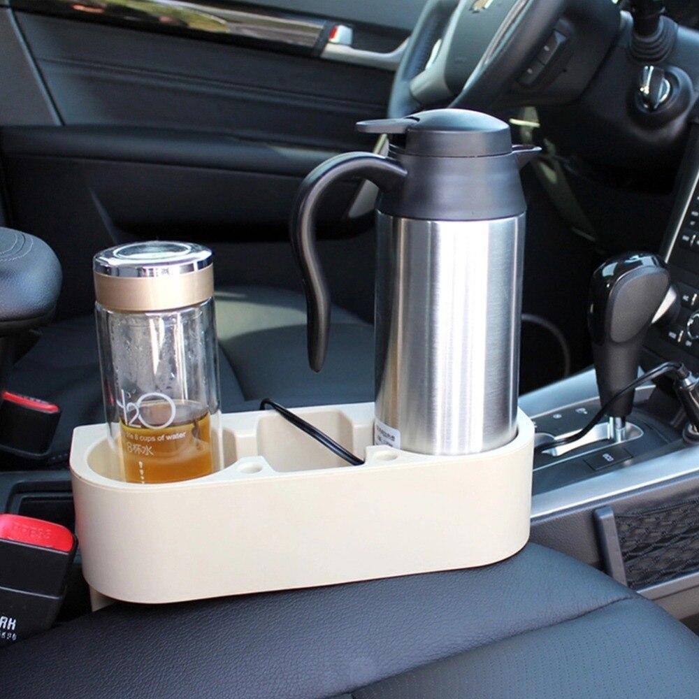 12V 24V calentador portátil de coche eléctrico camión hervidor de agua calentador de agua caliente olla botella de té y café bebiendo чайник 차량용커피포트