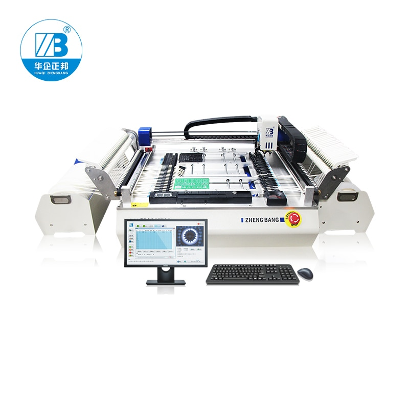 Chip Mounter SMT Desktop Small Automatic Vision Pick And Place Machine Hot Sale ZB3245TSS High Speed Vision 54 Feeders