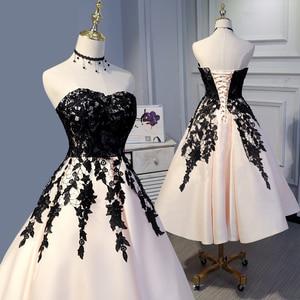 Custom Made Evening Dress Lace Up vestido de festa longo Appliques Evening Gowns A Line abendkleider robe de soiree longue