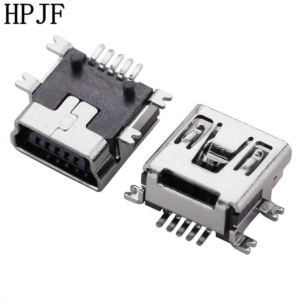 10 шт. мини USB Тип B Женский 5 Pin SMT SMD гнездо разъема ПП короткий корпус USB
