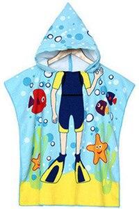Cartoon printing children's bath towel cape cloak Halloween Carnival Cloak Kid Tops