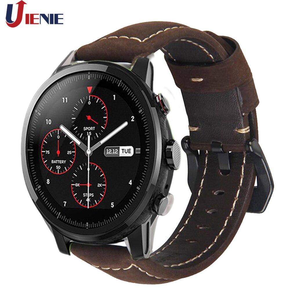 Leder Uhr Band Strap für Huami Amazfit Stratos 2 2 S/GTR 47mm/Galaxy Uhr 42 46mm Getriebe S2 S3 Smart Armband Band 20mm 22mm