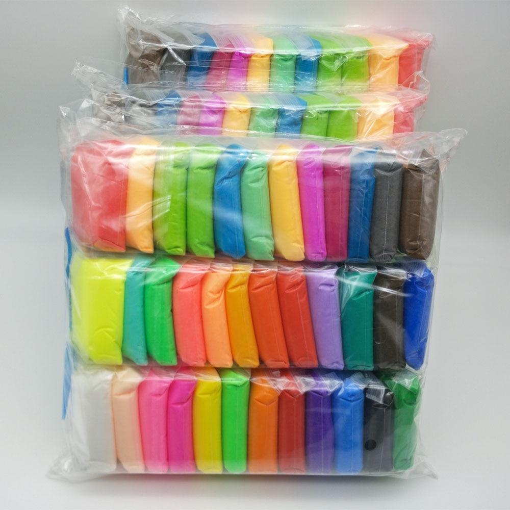 Plastilina ligera de secado al aire de 24 y 36 colores, arcilla de modelado súper ligera DIY suave, juguetes educativos creativos Lizun