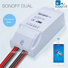 Itead Sonoff-interrupteur Wifi Intelligent   Bidirectionnel, télécommande sans fil, bricolage, interrupteur Intelligent, domotique Ewelink