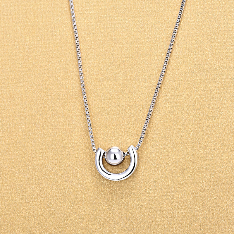 New 925 Sterling Silver Spin Beads Pendant Necklaces For Women Fashion Jewelry Gifts gnx0495 2015 new horizontal sideways cross women pendant necklace fashion 925 sterling silver necklaces for women