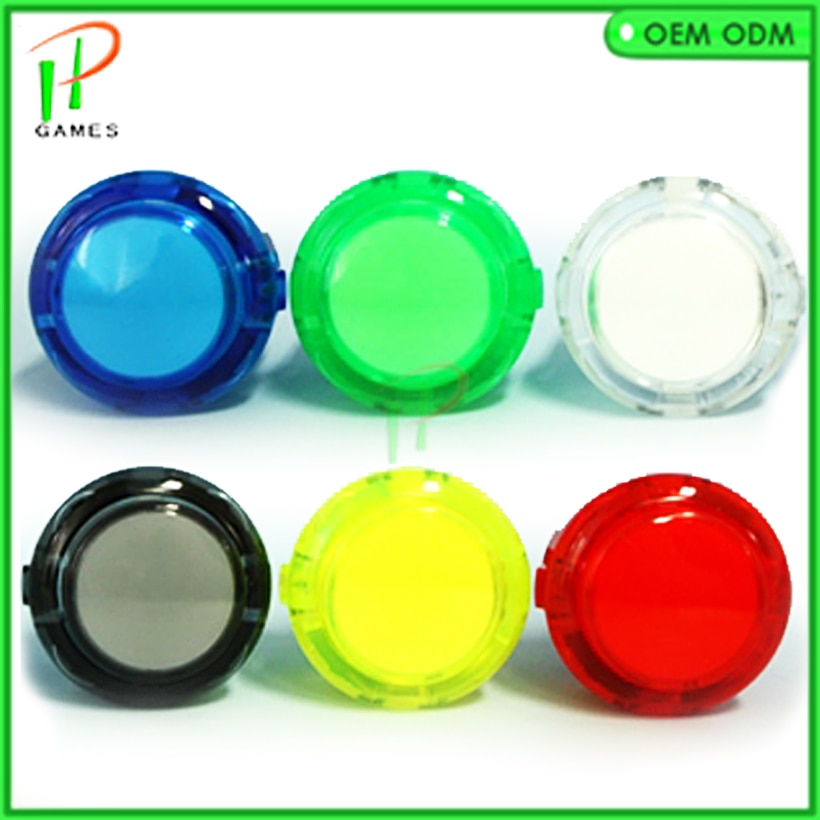 10pcs original OBSC-30 Sanwa clear Push Button transparent Push button for Coin Operated Arcade Game Machine accessories