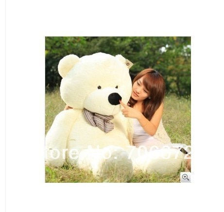 Nouveau peluche blanc ours en peluche 160 cm poupée 63 pouces jouet cadeau wb8415