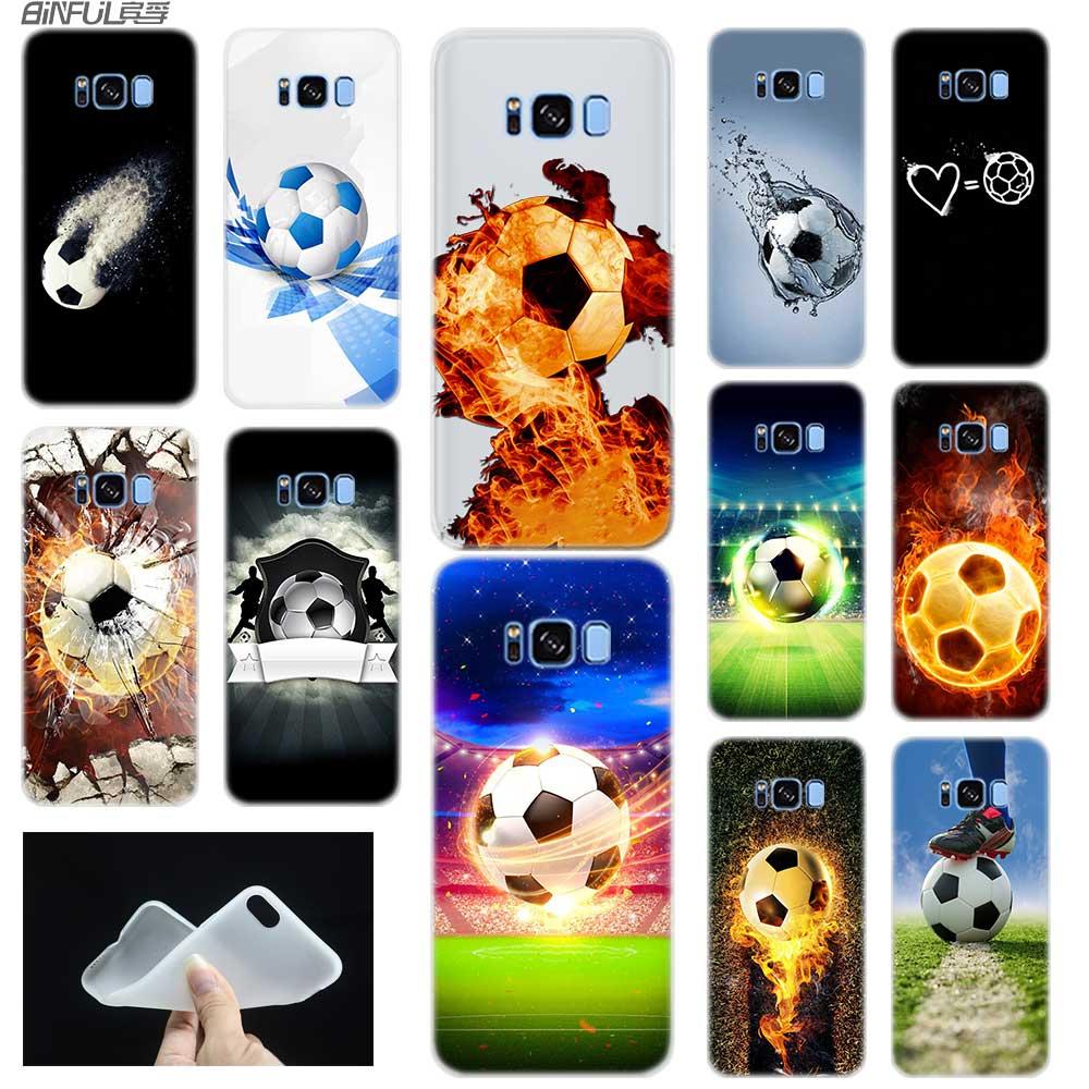 Funda para Samsung S6, S7 Edge, S8, S9, S10, S11 Plus, Fundas blandas de TPU, funda trasera, Note 8, 9, 10 Pro Fire, balón de fútbol