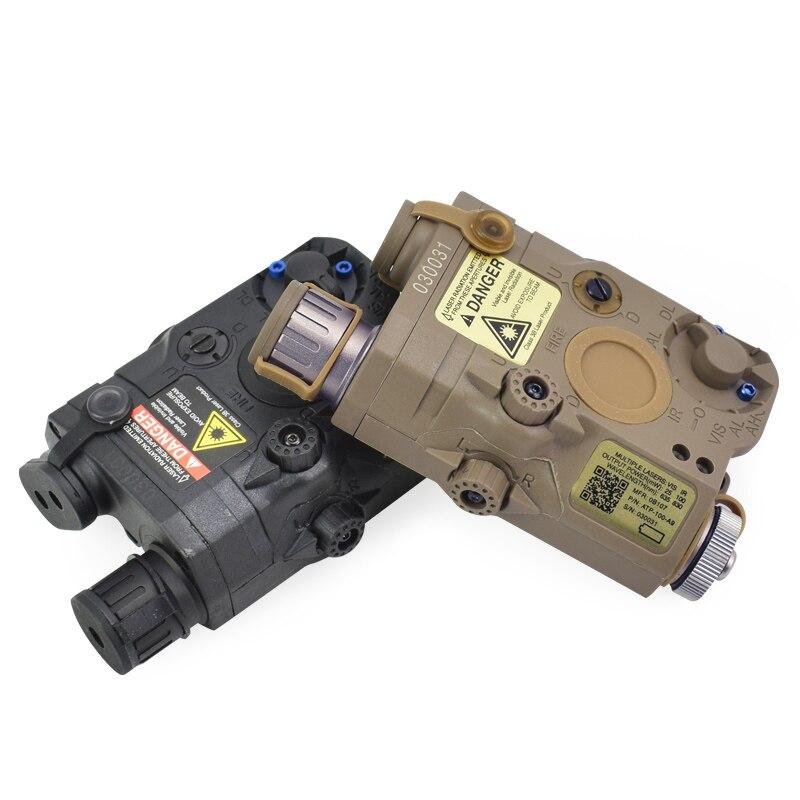 Caixa de Bateria UHP PEQ-15 ActionUnion Tático Lanterna LED Branco + Red Laser Sight W/IR Lentes AN/LA-5C /15 Para Airsoft PEQ