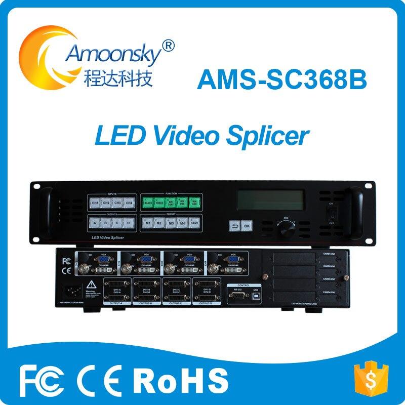 AMS-SC368B multi-medios digitales procesador de empalme Hd Led Video Switcher Shenzhen pantalla Led buen precio