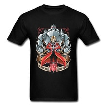 Edward Fullmetal alchimiste japonais Anime t-shirt hommes 100% coton mode drôle concepteur 3D t-shirt Homme Overized