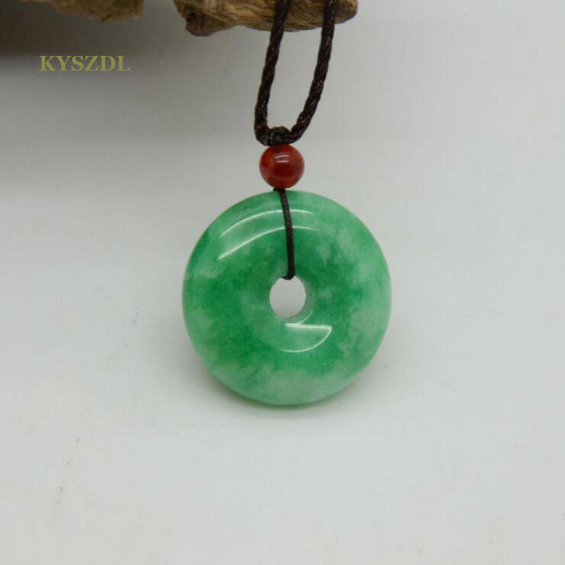 KYSZDL Free Shipping New without tags Fashion Jewelry 35MM Round Natural Green STONE Pendant fashion jewellery