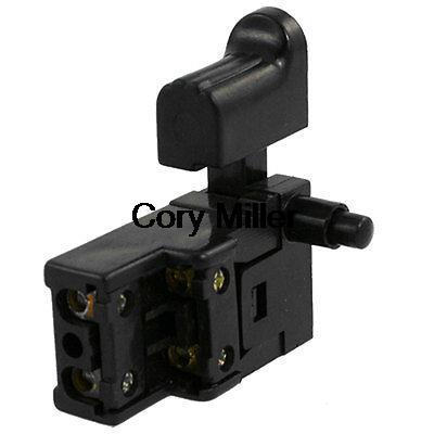 AC 250V 5E4 Plastic Shell DPST Momentary Power Tool Switch