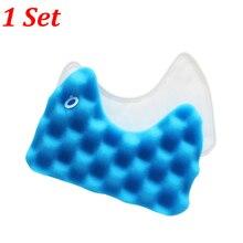 1 Set Blau Schwamm Hepa-Filter Kit für Samsung DJ97-00492A SC6520/30/40/50/60/70/80/90 SC68 Serie Roboter Staubsauger Teile