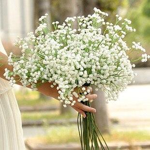 PU Gypsophila Respiração do bebê Falso Artificial Planta de Flor de Seda Decoração de Casamento Em Casa