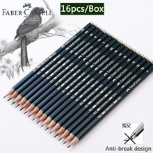 Faber Castel 16 pièces/boîte crayons pour école Pastel HB 2B 2H dessin crayon ensemble Lapiz professionnel Potloden Art fournitures