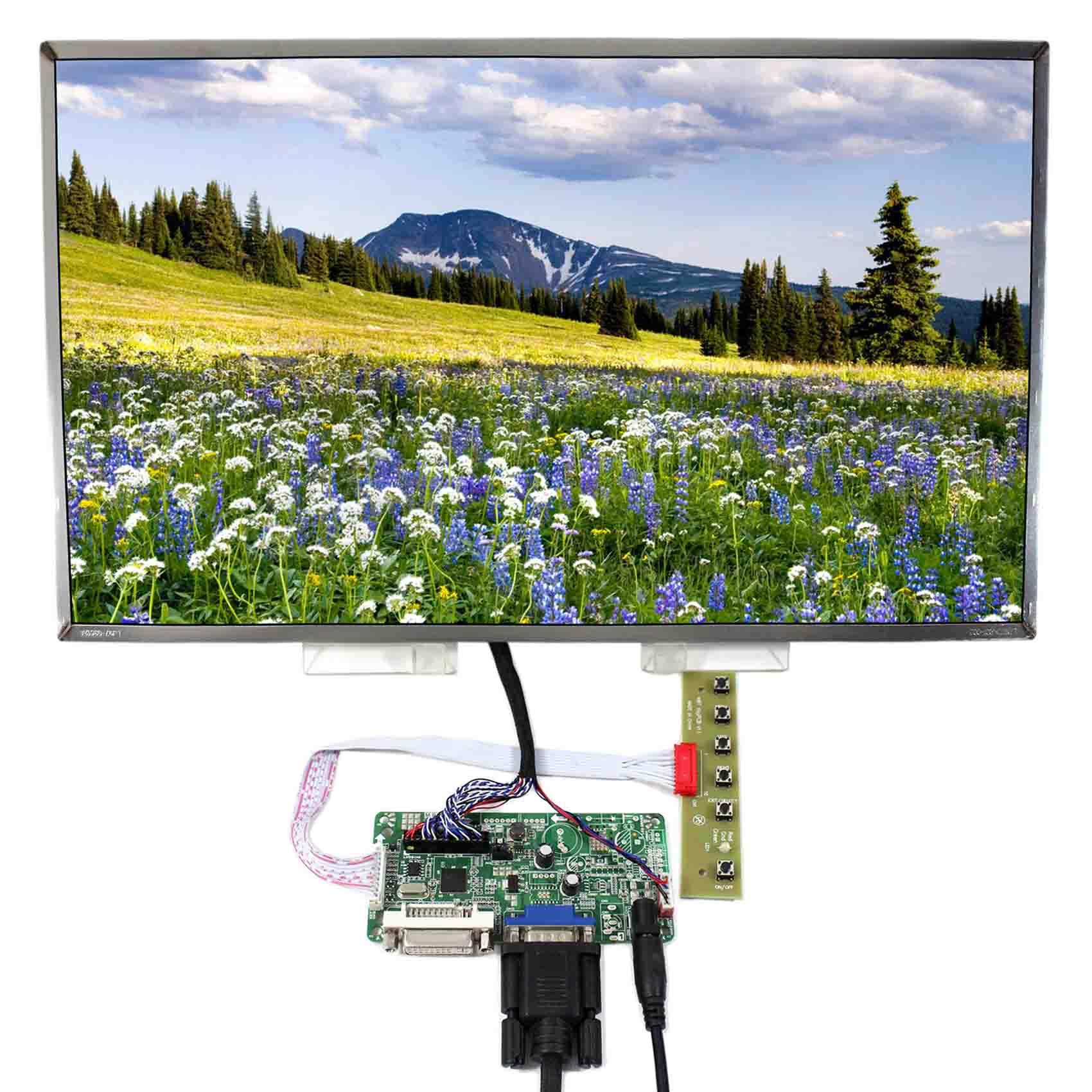 """17inch LP173WF1-TL DVI VGA LCD Board Display Control LCD Display N173HGE-L21 LCD Controller Board 1920X1080 17.3"""" LCD Screen"""