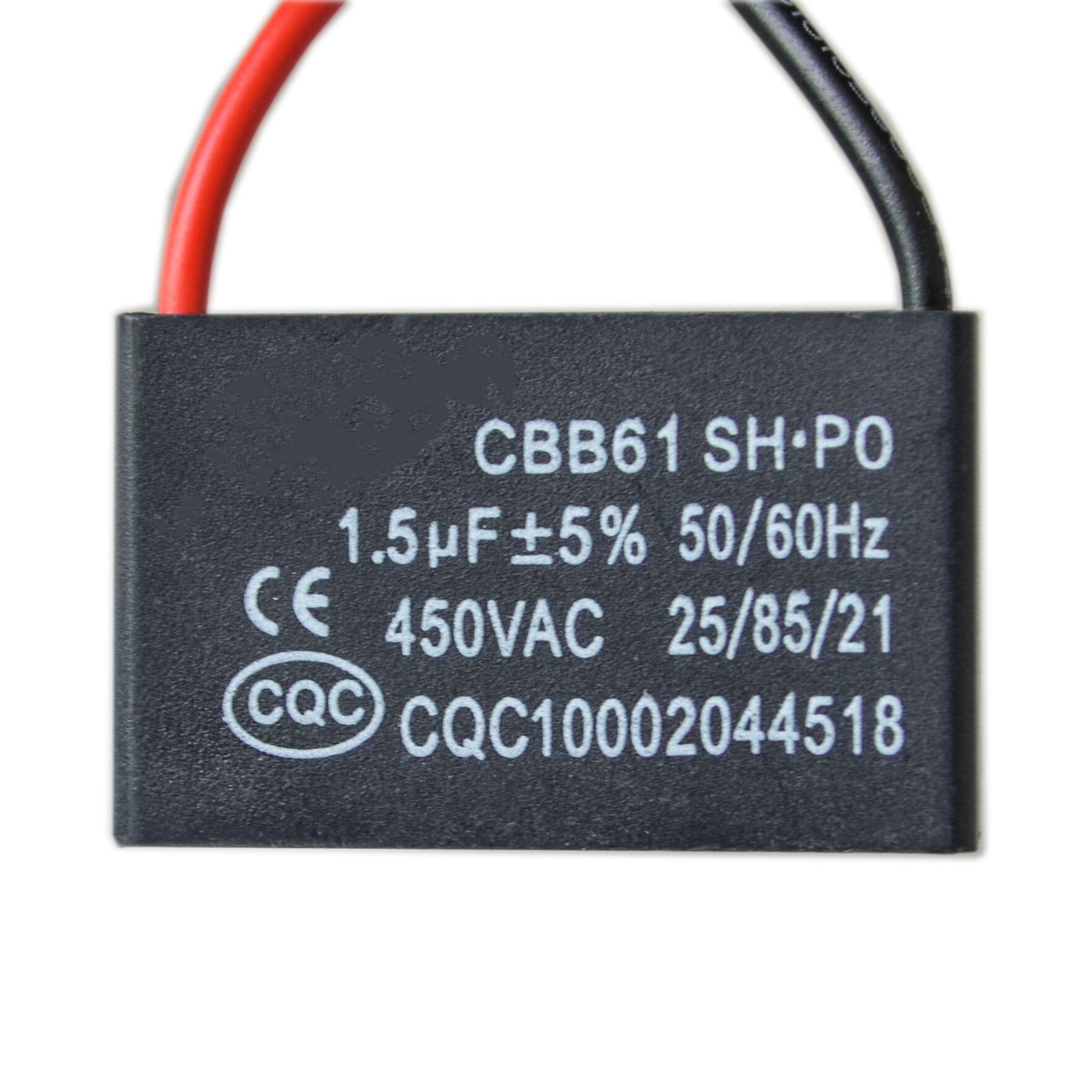10 pçs/lote CBB61 emanações do Óleo do motor da talha fã fã início capacitor 1.5UF ar condicionado