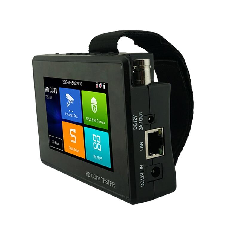 2019 Newest 4 inch Wrist CCTV HD Camera Tester H.265 4K IP 8MP TVI 4MP CVI 5MP AHD Analog 5-in-1 CCTV Tester Monitor with WIFI