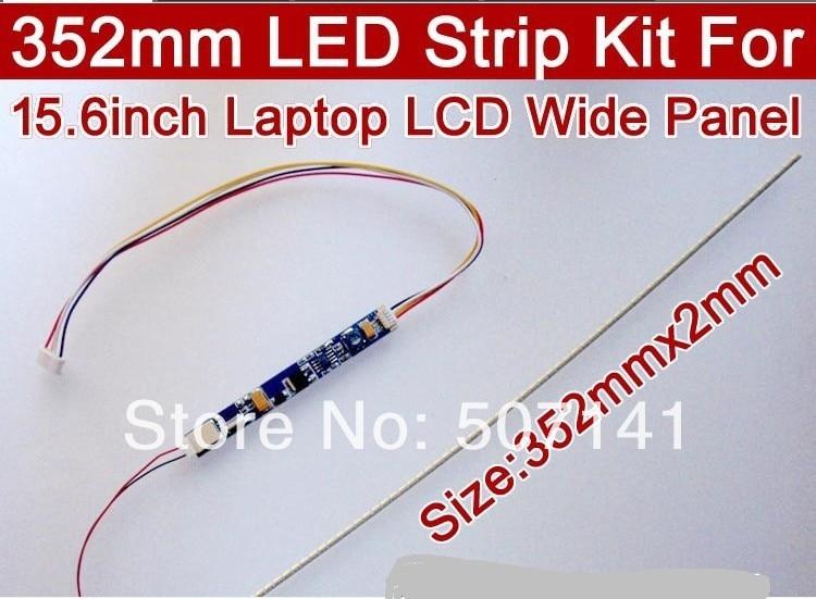 Envío gratis 10 piezas 352mm brillo ajustable de retroiluminación led kit actualización pulgadas de ancho portátil LCD ccfl panel para luz de fondo LED
