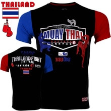 Tailândia pattaya estilo muay thai boxe treinamento camiseta mma aptidão t kickboxing fightwear algodão respirável correndo camiseta